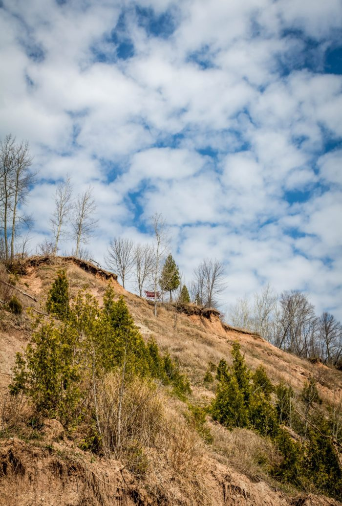 8. Definitely be careful as erosion has taken its toll on the bluffs.