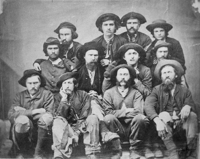 These are Confederate prisoners in 1863.