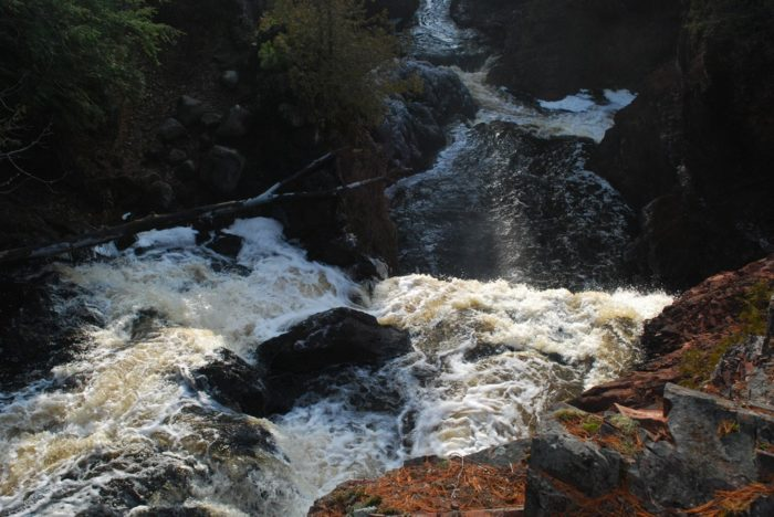 6. At any point on the trail, you can hear the roll of the falls.