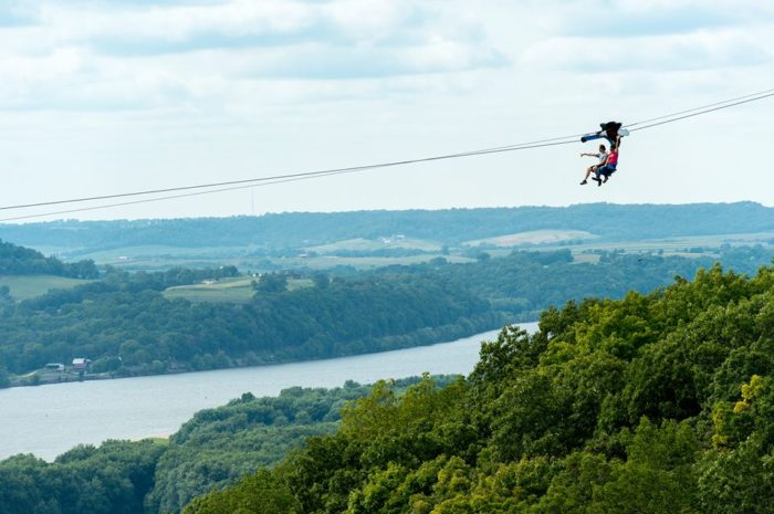 3. Sit on a ski lift for an incredible (and we do mean incredible) view of the Mississippi.
