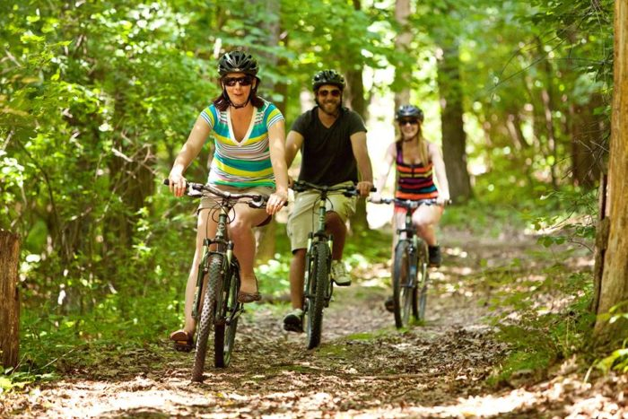 6. There are also plenty of trails to hike or bike if that is more your speed.