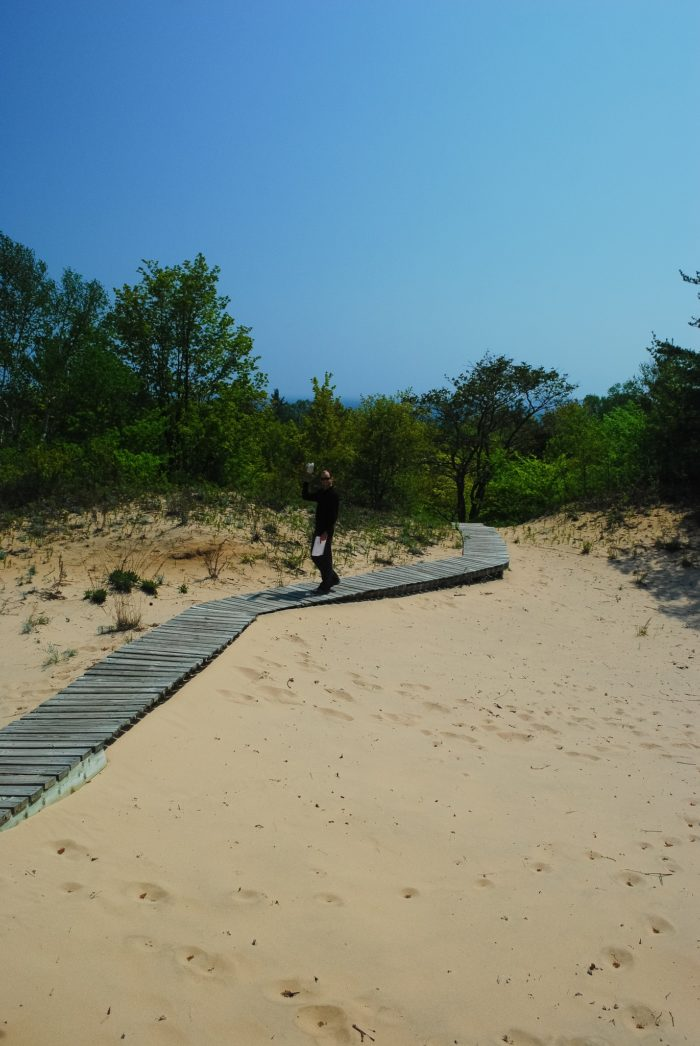 4. You can walk along a nice boardwalk over some of the sandy areas.
