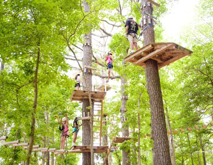 Feeling extra adventurous? Frontier Town has a high ropes adventure park where you can climb among the trees.