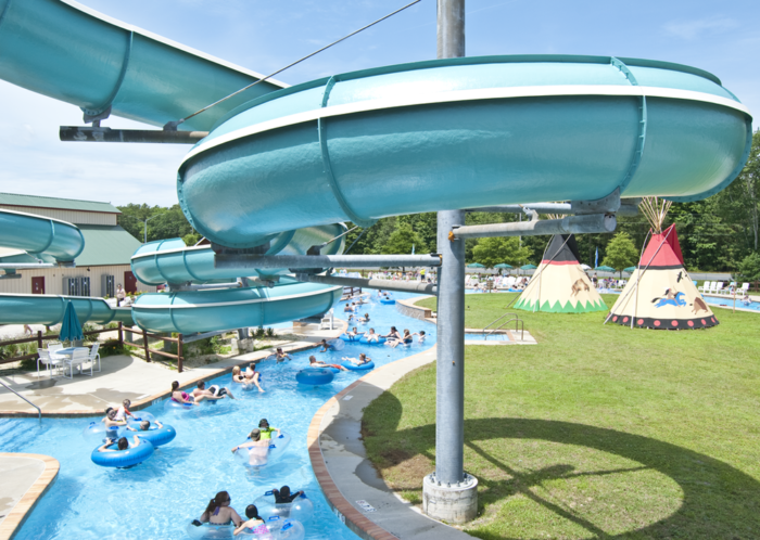 Venture to the waterpark to zip down the slides...