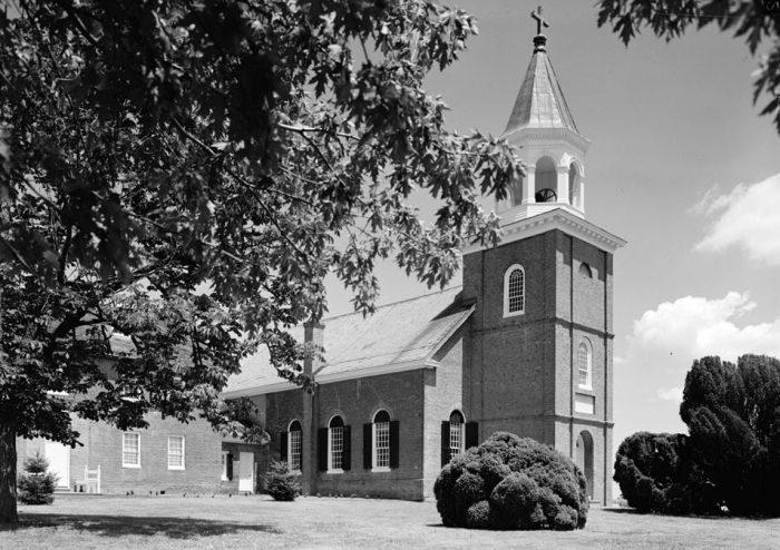 4. A photo of the St. Francis Xavier Roman Catholic Church in Warwick taken in 1963.