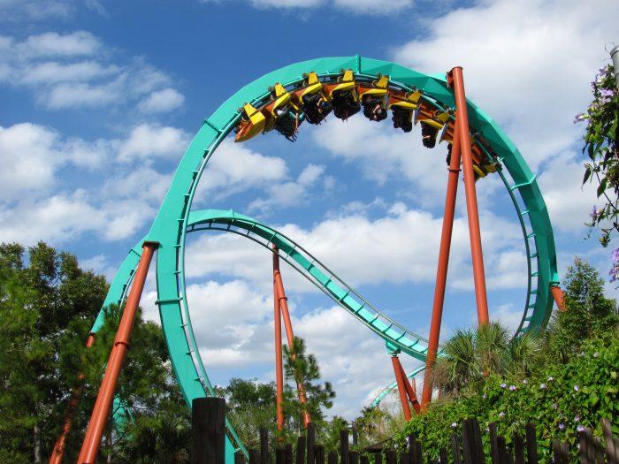 3. Take a ride at an amusement park