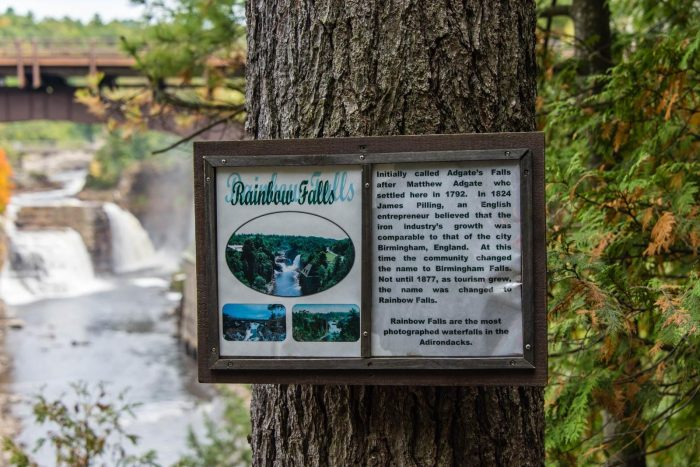 While exploring Ausable Chasm, you'll find plenty of informative signs.