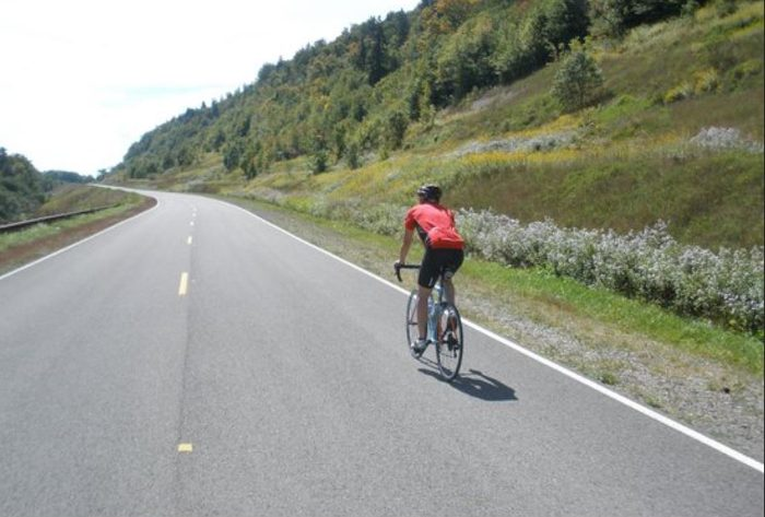 This road is also very popular with bicyclists and motorcyclists.