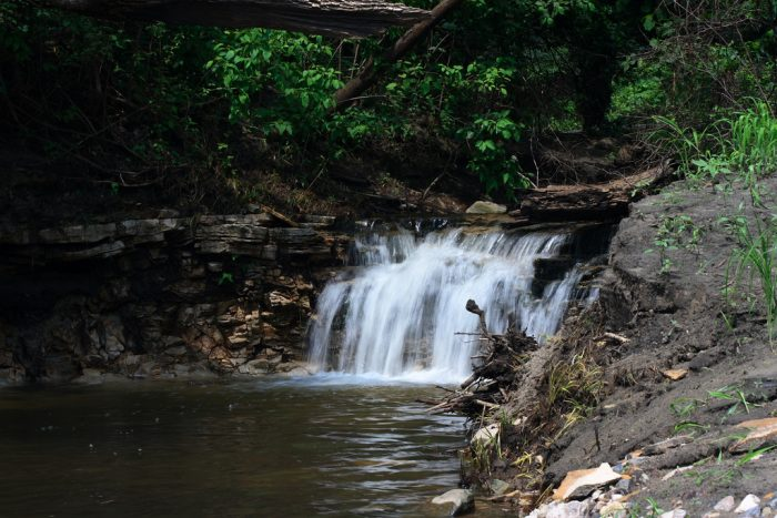 8. Boone River Waterfall, Webster City