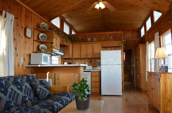 Or stay the night in one of the private and cozy cabins.
