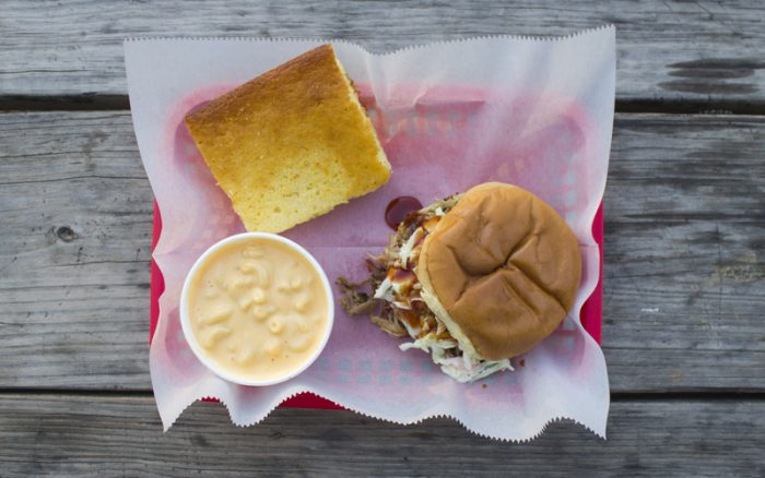 For the best BBQ, mac and cheese and jalapeño cornbread you'll ever have, brave the possibility of a long line at Eli's BBQ.