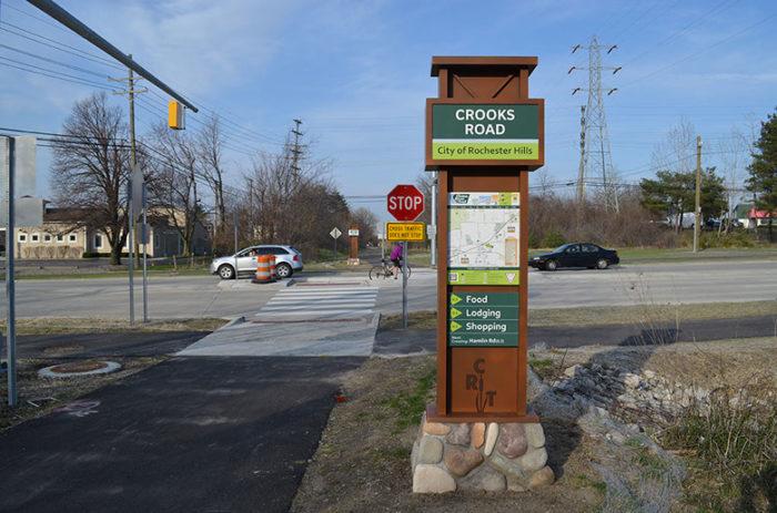 crooks crossing sign