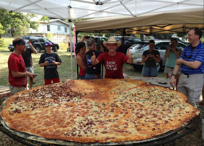 8. 8-foot pizza from Dirt Road Cookers (Hondo)