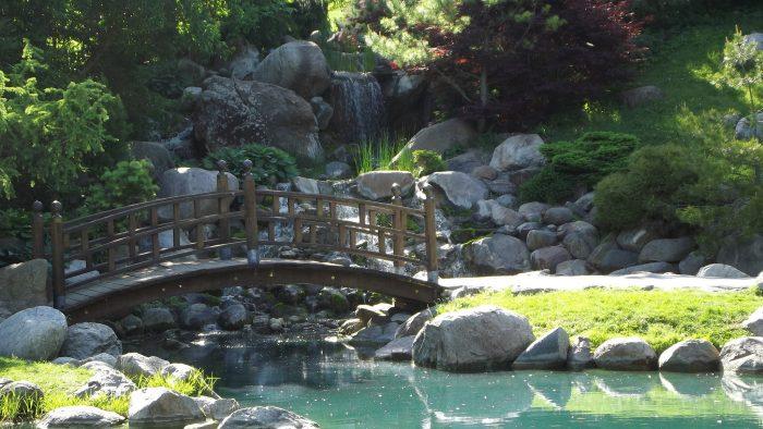 1. Dubuque Arboretum Japanese Garden Waterfall