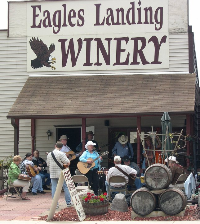 Get a taste of the local vintage at the Eagles Landing Winery.