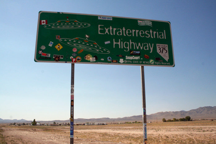 2. Take the Extraterrestrial Highway (State Route 375) to Rachel and beyond.
