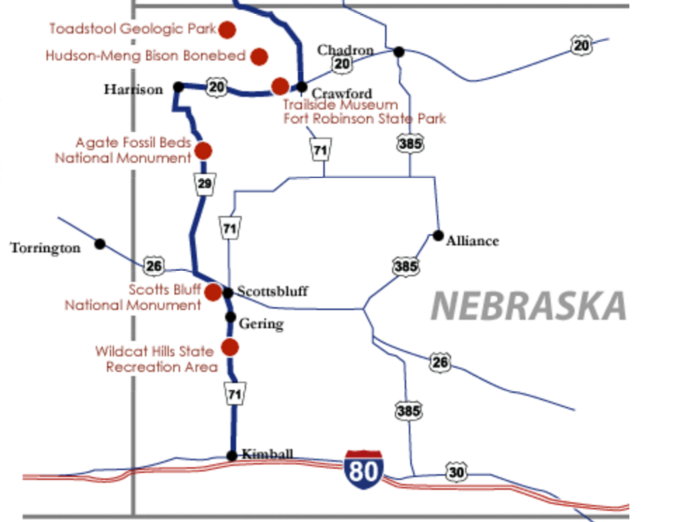 3. Drive the fossil freeway, western Nebraska