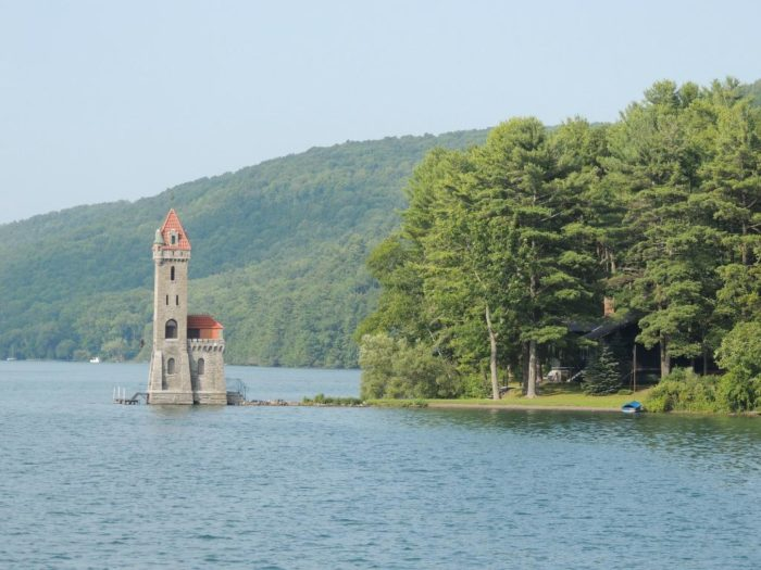 The stunning feature of this Cooperstown lake was actually built to make the body of water look more attractive.