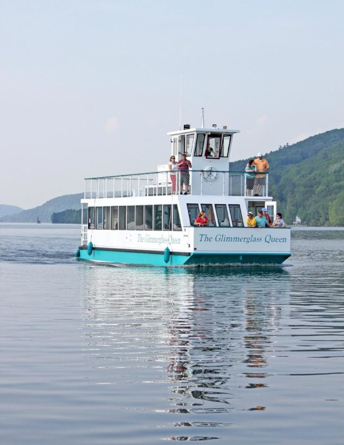 One of the few ways you can view this secluded castle, is by taking a boat tour with Glimmerglass Queen Boat Tours!