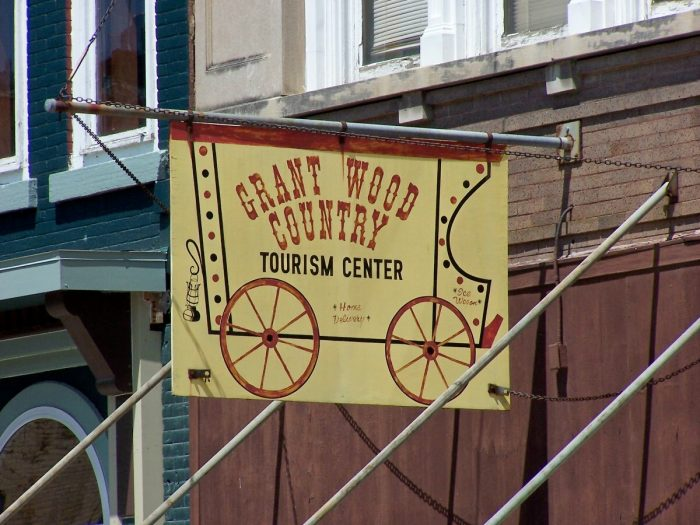 Stop in the Grant Wood Art Gallery in Anamosa.
