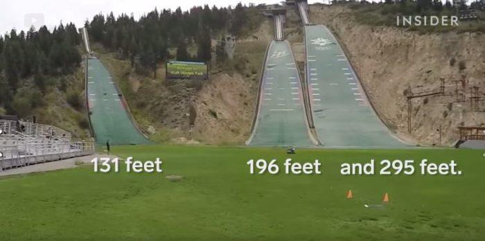 Choose from three ski jumps.