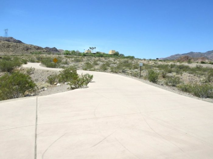 The trail begins near the Alan Bible Visitor Center at Lake Mead.