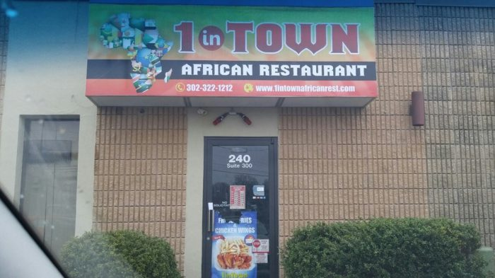 Day 3: Dinner at 1 in Town African Restaurant, New Castle