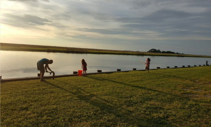 You can even catch your own dinner, as this quiet spot is ideal for fishing and crabbing.