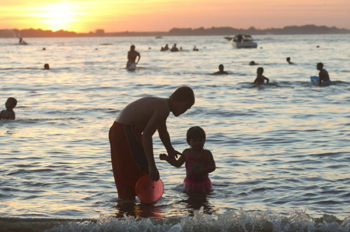 Johnson Lake SRA; July; fireworks; swimming; beach;