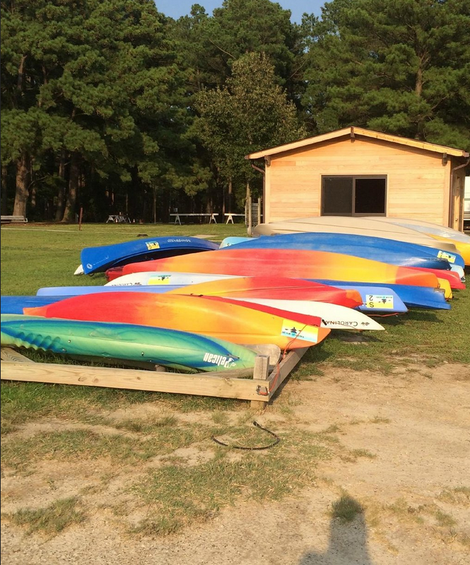 There are kayaks and canoes available to rent so you can explore the park's 30 miles of water trails.