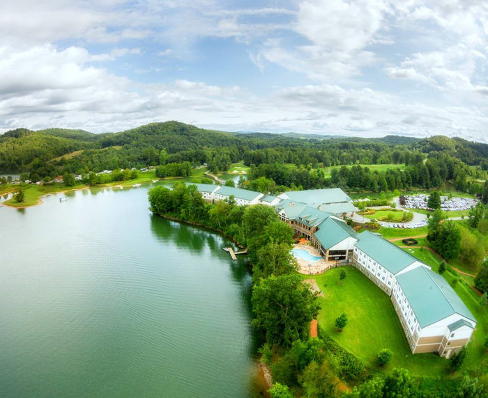 If camping is a little too much for you, you can also stay in the resort's beautiful lodge.