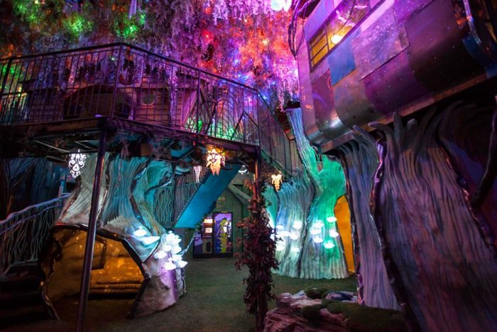 3. Enter the surreal environment of Meow Wolf, an interactive art complex.