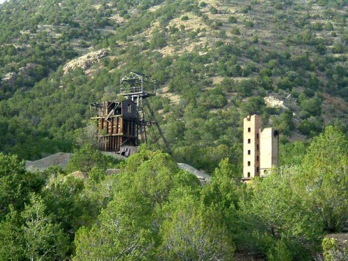 1. The headframe is pretty much all that's left of the Kelly Mine, in the ghost town of Kelly.