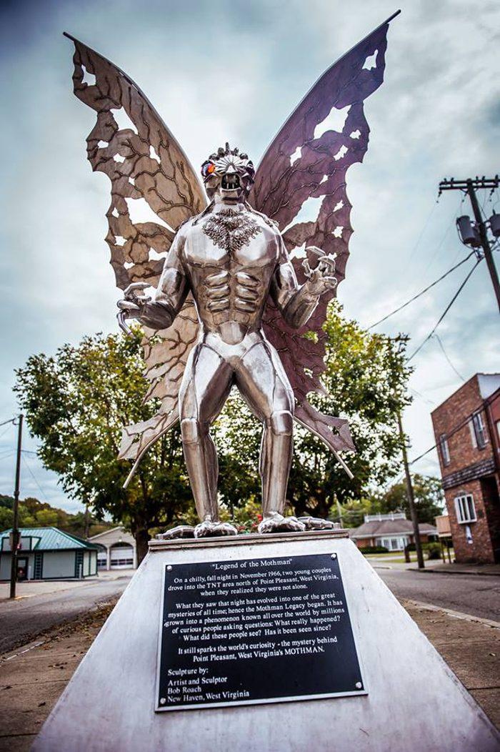 7. Mothman Statue, Point Pleasant