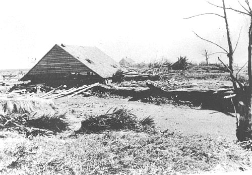 Approximately 1500 people lived in Cheniere Caminada when the storm struck on October 2nd, 1893.
