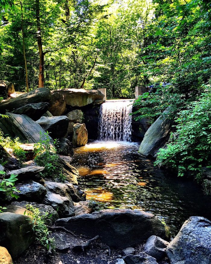 4. Central Park Waterfalls, New York City