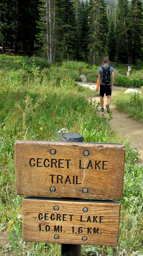 Cecret Lake isn't much of a secret...it's a very popular hike in Little Cottonwood Canyon.