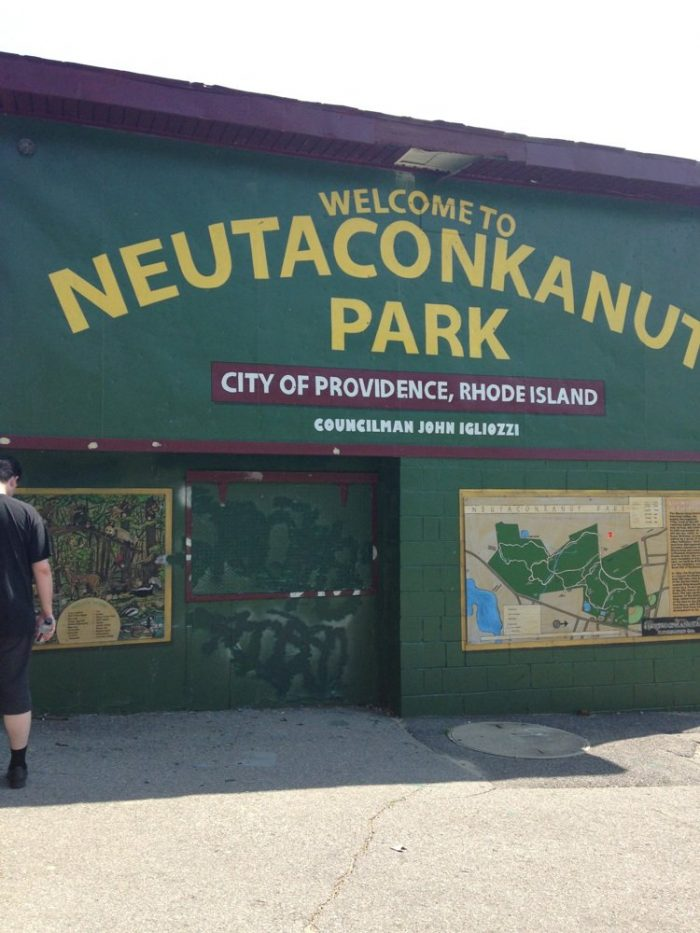 1. The park is situated on a site rich in Rhode Island history.