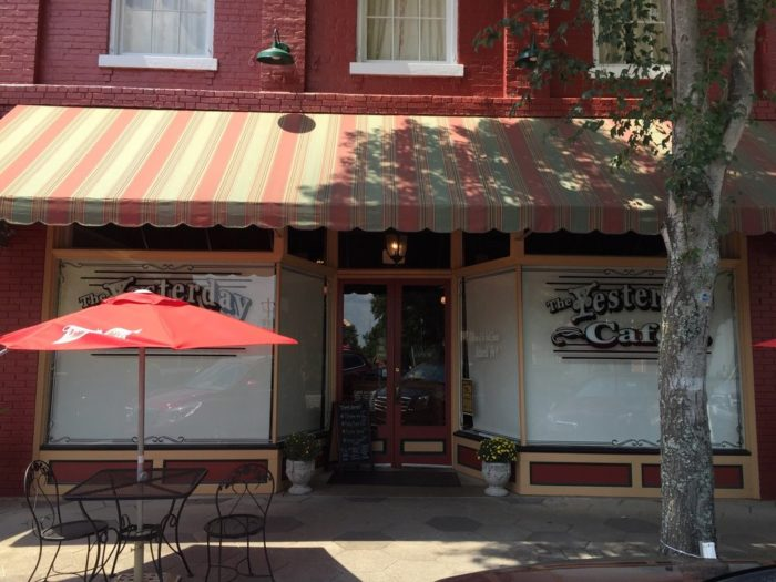 The Yesterday Cafe is located in beautiful and historic downtown Greensboro.