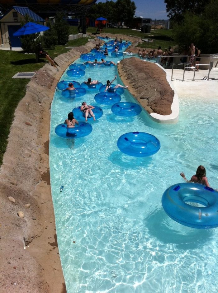 10. Beat the heat at a Mile High water park.