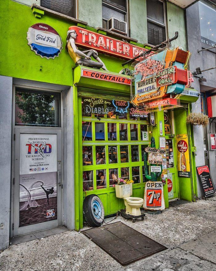 One of the many extraordinary neighborhoods that make up the Big Apple, The Trailer Park Lounge can be found in Chelsea.