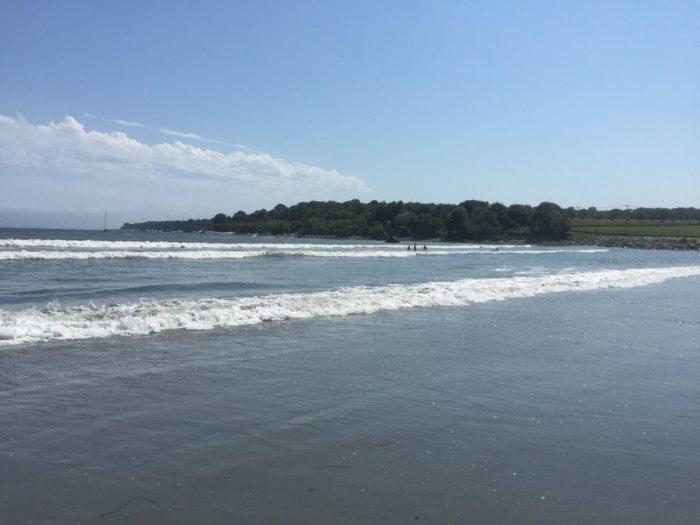 6. Mackeral Cove Town Beach, Jamestown