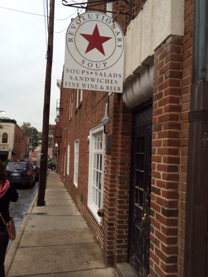 2. Charlottesville: Lunch at Revolutionary Soup