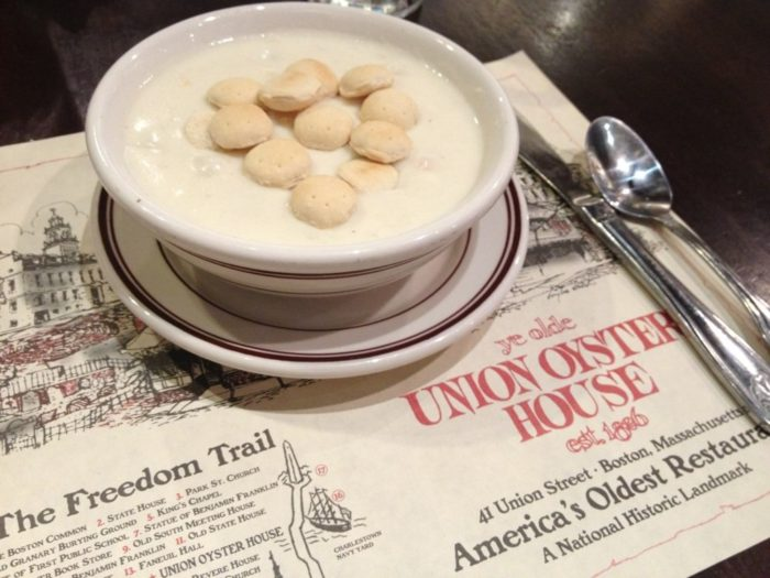 You cannot miss the clam chowder here.
