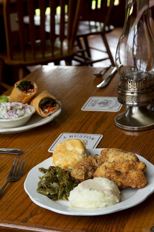 Don't miss the tavern's famous fried chicken!