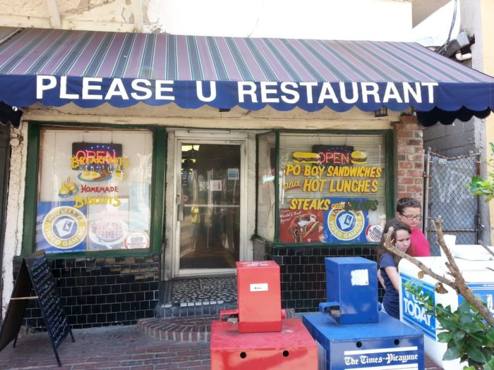 6) Please-U Restaurant. 1751 St. Charles Ave.