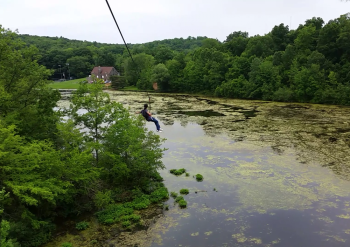At 900 feet, this is the longest zip line in the state!