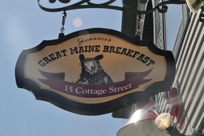 1. Jeannie's Great Maine Breakfast, Bar Harbor