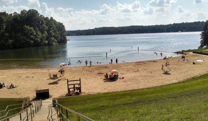 2. Lake Norman's public beach.