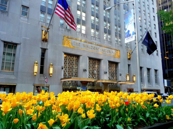 Located on Park Avenue, the Waldorf Astoria has become one of the most well-known luxury hotels in the world.